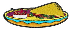 Spanish Food embroidery design