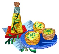 Pastry Dish embroidery design