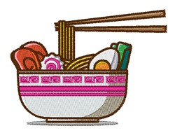 Asian Food embroidery design