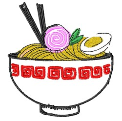 Bowl Of Noodles embroidery design