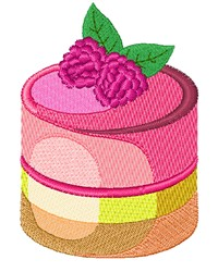 Raspberry Dessert embroidery design