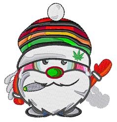 Marijuana Santa embroidery design