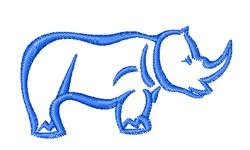 Rhino Outline embroidery design