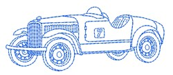 Race Car Outline embroidery design