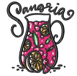 Sangria embroidery design