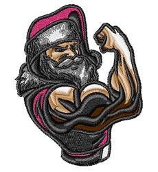 Body Builder Santa embroidery design