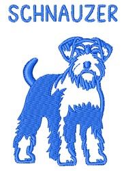 Schnauzer embroidery design