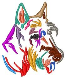 Colorful Schnauzer embroidery design
