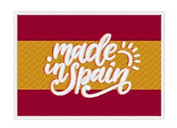 Made In Spain embroidery design