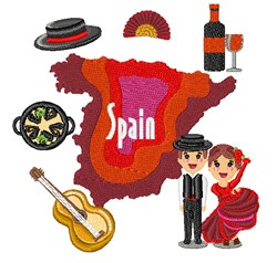 Spain embroidery design
