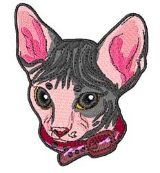 Sphynx Head embroidery design