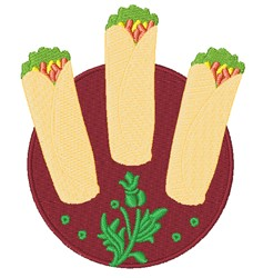 Spring Rolls embroidery design