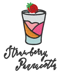 Strawberry Pannacotta embroidery design