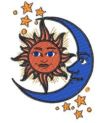 Sun & Moon embroidery design