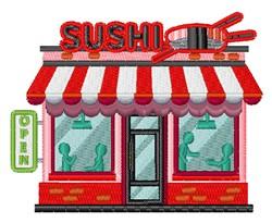 Sushi Restaurant embroidery design
