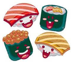 Cartoon Sushi embroidery design