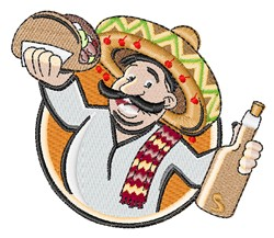 Taco Man embroidery design