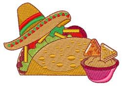 Mexican Taco embroidery design