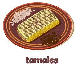 Tamales embroidery design