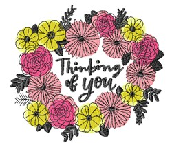 Thinking Of You embroidery design