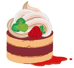 Strawberry Dessert embroidery design