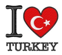 I Love Turkey embroidery design