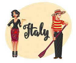 Italy embroidery design