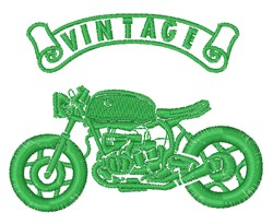 Vintage Bike embroidery design