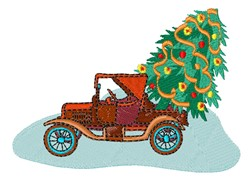 Tree In Truck embroidery design