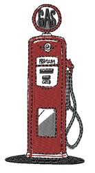 Gasoline Pump embroidery design