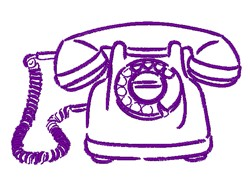 Telephone Outline embroidery design