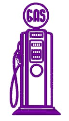 Gas Pump Outline embroidery design