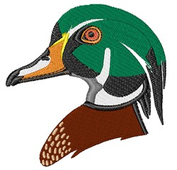 Wood Duck Head embroidery design