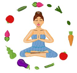Healthy Food embroidery design