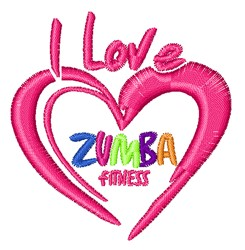 Love Zumba embroidery design