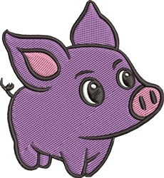 Purple Pig embroidery design