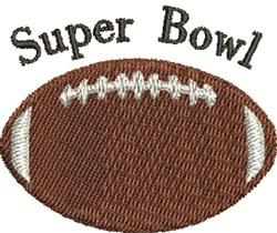Super Bowl embroidery design