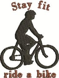 Ride A Bike embroidery design