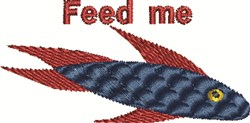 Feed Fish embroidery design
