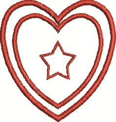 Heart And Star embroidery design