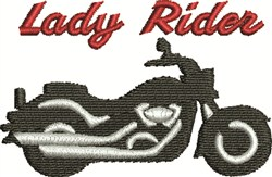 Lady Rider embroidery design