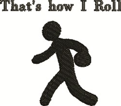 Bowling Man embroidery design