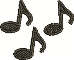 Eighth Notes embroidery design