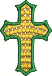 Green Gold Cross embroidery design