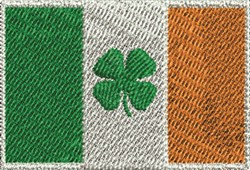 Shamrock Flag embroidery design