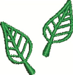 Two Leaves embroidery design