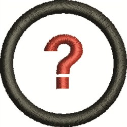 Question Mark embroidery design