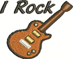 Rock Guitar embroidery design
