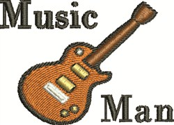 Music Man embroidery design