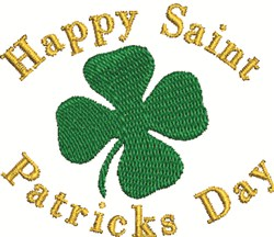 St Pats Day embroidery design